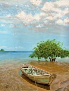 Barca en el manglar