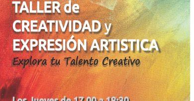 NUEVO TALLER de Creatividad y Expresión Artística. Actividades Socio-Culturales 2018/2019.