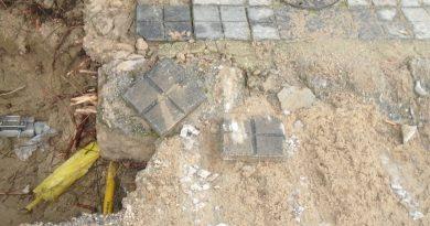 Reparación avería en red general de agua calle Sangonera